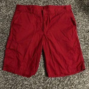 Men's red Columbia Shorts W 34 L 10